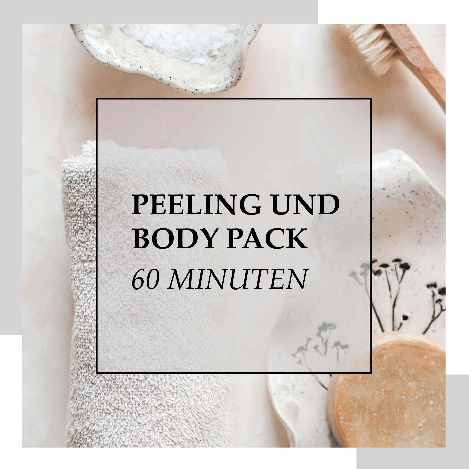 Gutschein Peeling und Body Pack 60 Minuten | HopeCosmetics