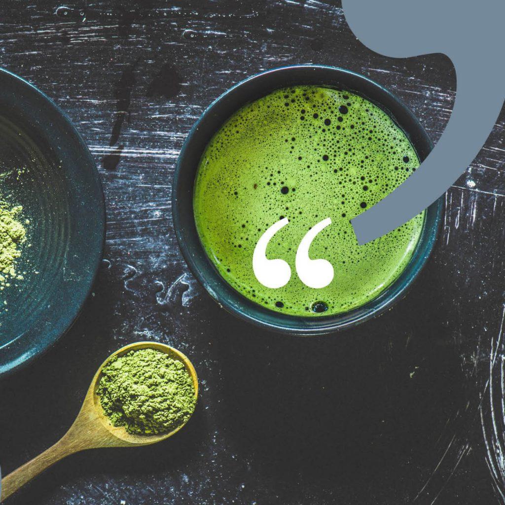 Bild eines Matcha Tees